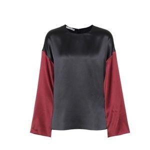 Vince silk mod blouse